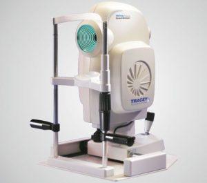 Přístroj od Tracey Technologies pracuje jako refraktometr, keratometr, aberometr, pupilometr a rohovkový topograf.