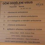 Orientační tabule VISUS - pracoviště Náchod na Poliklinice v Náchodě