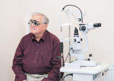 Brýlová korekce pacienta