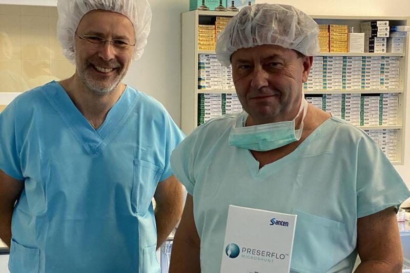 Microshunt Preserflo – první implantace